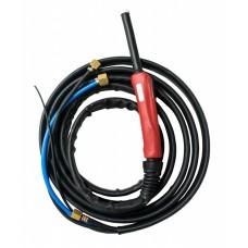 Горелка TIG 25 250A (100%) M12x1 газ 1/4G вода 3/8G с упр. разъёмами 2-3-5pin 4м Aurora