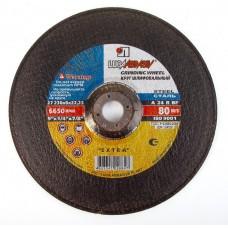 Диск шлифовальный по металлу 230х6.0х22 А24 R BF 80 Луга