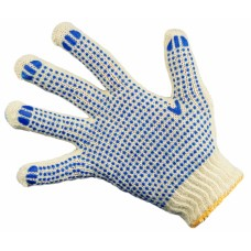 Перчатки ПВХ 6-н (точка) 62гр