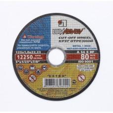 Диск шлифовалный по металлу+нержавейки 125х1.0х22 А54 S BF 80 2 Луга