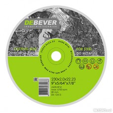 Диск отрезной по металлу Debever 230х2.0х22 A40S-BF41