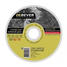 Диск отрезной по нержавейке Debever 125х1.0х22 A46S-BF41