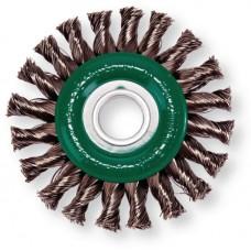 Щётка дисковая 20 жгутов проволока нержавейка Lessmann Д 125х14х22,2х0.5мм